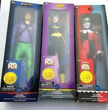 3 Marty Abrams Presents Mego-Lex Luthor Harley Quinn Batgirl 14 inch NEW IN BOX