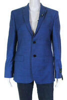 Lauren Ralph Lauren Womens Long Sleeve Notch Collar Blazer Blue Size 18R