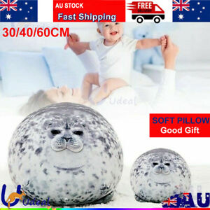 30/40/60CM Chubby Blob Seal Plush Doll Pillow Stuffed Cartoon Animal Toy Gift AU