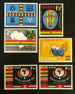 EBS Ghana 1959 - 2nd Anniversary of Independence - SG 207-212 MNH**