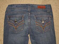 Vigold Size 3 / 4 | 27 Skinny Flap Pocket Dark Blue Stretch Denim Womens Jeans