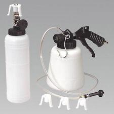 Pneumatic Brake Fluid Bleeder w/ 4 Master Cylinder Adapters 90 - 120 PSI one man