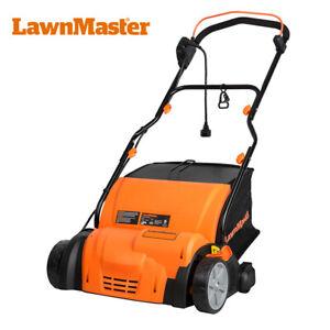 LawnMaster GV1314-D Scarifier & Raker Lawn Dethatcher 14-Inch | 12.5 AMP