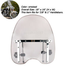 Motorcycle Smoked Windshield Windscreen With Mount Kit For Harley Dyna Sportster