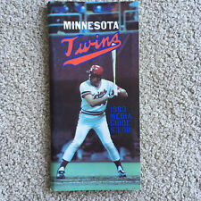 1983 Minnesota Twins MLB BASEBALL NEWS MEDIA GUIDE roster stats Program