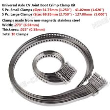 10Pcs Universal Adjustable AXLE CV Joint Boot Crimp Clamp Kit