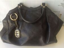 Authentic GUCCI Sukey Medium Guccissima Leather Black Tote bag MSRP $1,630