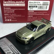 1/64 IG Model Ignition Nissan Skyline GTR R35 Z-Tune Green Metallic IG1873