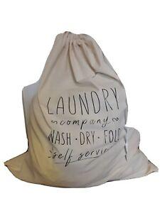 Natural Canvas Laundry Bag