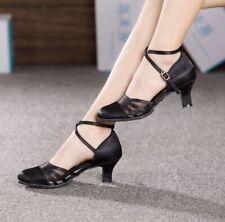 Women Ballroom Modern Closed Toe Satin Dance Shoe Smooth Tango Waltz Prom Size 7