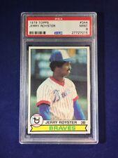 1979 Topps Jerry Royster #344 PSA 9 Atlanta Braves