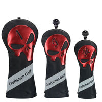 Craftsman Golf Golf Club Head Covers for Woods Driver Hybrid Skull Headcovers