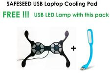 Safeseed USB Octopus foldable cooling pad Fan mini Laptop Notebook + USB LED