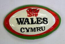 Welsh Red RUGBY BALL/DRAGON design FRIDGE MAGNET,  Wales / Cymru