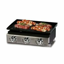 Big Horn 3 Burner 23inch Gas Bbq Plancha in Stainless Steel Portable