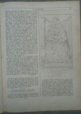 1855 RIVISTA L'ALBUM DI ROMA TRIREME ROMANO E AFFRESCO DI GAGLIANVECCHIO MARCHE