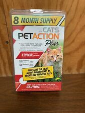 PetAction Plus for Cats and Kittens (8 doses/8 month supply) New