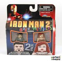 Marvel Minimates C2E2 Iron Man 2 Movie Stark Expo Tony Stark & Natalie Romanova