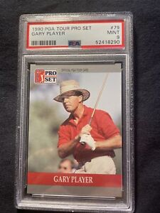 Rare grade 1990 PRO SET PGA TOUR #79 GARY PLAYER HOF PSA 9 Mint.  Low Pop Report