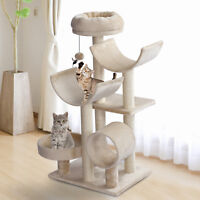 "41"" Multi-Level Large Cat Tree Kitty Activity Center Perch Tunnel"