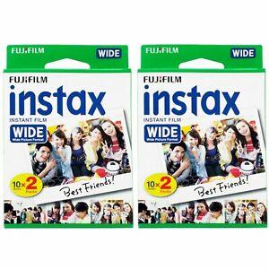 2 Packs 40 Instant Photos Fuji FujiFilm Instax Wide Film Polaroid Camera 210 300