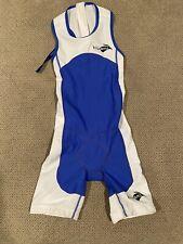 Boys Youth Kiwami Triathlon TRI suit Skinsuit Size 8 Blue White