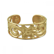 Filigree Band Toe Ring Rings Fashion 14kt Yellow Gold Plated Sterling Silver 6mm