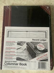 Boorum & Pease Columnar Book Record Ruling 300 Pages 10 3/8 x 8 3/8 21-300-R