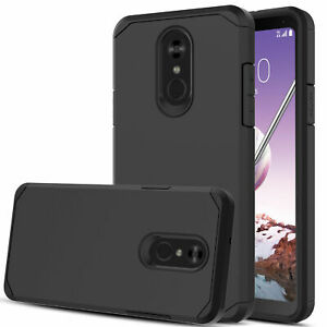 For OnePlus 6T Hybrid Shockproof Rugged Rubber Protective Hard Case Cover BLACK