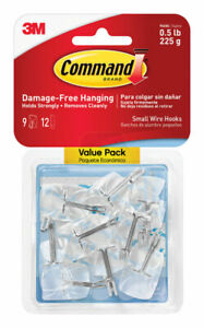 3M Command  Small  Wire  Hook  1-5/8 in. L Plastic  1/2 lb. per Hook  9 pk