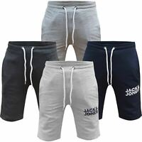 Jack & Jones Mens Fleece Sweat Shorts Elasticated Waist Gym Jogging Half Pants