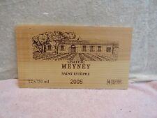 2005 Chateau Meyney Grand Vin Holz Wein Verkleidung Ende