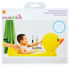 NEW Munchkin Inflatable Safety Duck Tub Baby Bath Ages 6 - 24 M