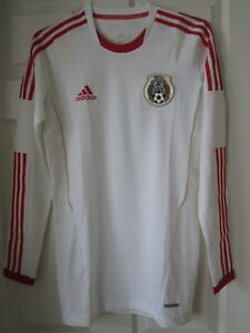 Adidas Mexico National Team El Tri Player Issue Long Sleeve Jersey World Cup