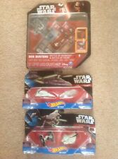 3 New In Packets Star Wars Toys Hot Wheels & Box Busters Spin Master