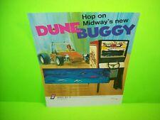 Midway DUNE BUGGY Original 1972 Vintage Arcade Game Promo Sales Flyer Pre-Video