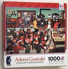 "Arlette Gosieski Quilts Crazy Quilt Bee 1000 pc Puzzle Ceaco 3367-02 27""x20"""