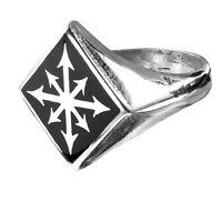 GENUINE Alchemy Gothic Ring - Chaos Signet   Men's Biker Jewellery