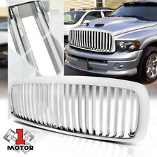 For 2002-2005 Ram 1500/2500/3500{VERTICAL-BAR}Glossy Chrome Bumper Grille Grill