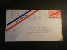 1944 APO# 319 114th Field Artillery Batallion cover to Bert Hubbard, Sandwich IL