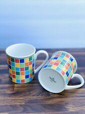 10 oz Set of 2  Villeroy & Boch Twist Alea Limone Coffee Tea Cups Mugs