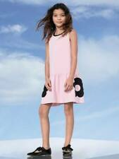 Girl's Victoria Beckham for Target Pink Black Flower Pocket Sleeveless Dress XL