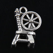 30pcs Tibetan Silver Spinning car Pendants Charms For Jewelry Making 18x12mm