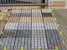 GRANITPFLASTER  Pflastersteine Padang Basalt Granit Marmor auf Netz geklebt G603
