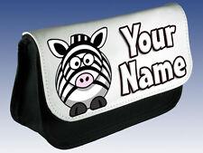 Lindo Zebra Personalizado señoras / Niñas Niños componen Bolso / Estuche / Ds * Regalo *