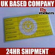 VW MK1 Golf GTI MK1 Scirocco Jetta Wheel Bolt Sticker