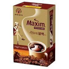 MAXIM Arabica 100 Soft Black Korean Instant Coffee Mix - 20 Sticks