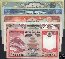 NEPAL 2008 First EVEREST BANKNOTE Rs 5 - 100 set of 5, sign 17, P- 60a - 64a UNC