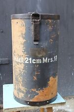 WW II Germany 1943 Charge bag for a 21 cm Morser 18 gun. SONDERKART