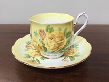 Royal Albert TEA ROSE YELLOW Footed Cup & Saucer Set ~ England